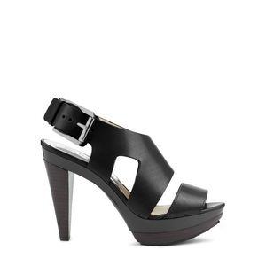 Michael Kors black Carla Sandal Heels
